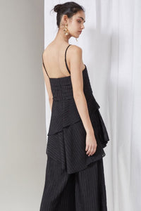 waterfall top - black