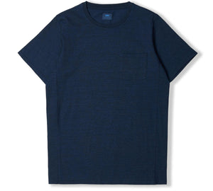 panel t-shirt - indigo stone washed