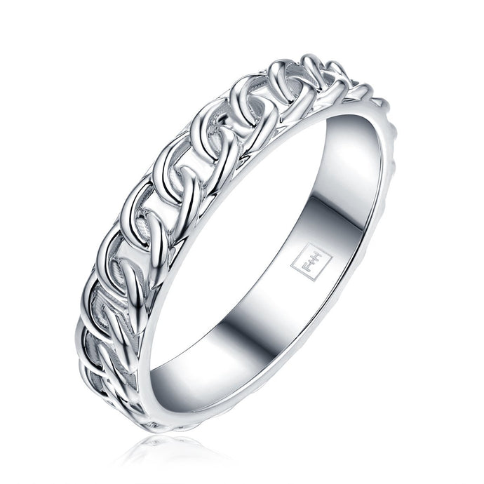 Chain ring -  Sterling Silver 925