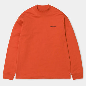 Highneck Script T-Shirt - Persimmon by Carhartt WIP - LONELIE STORE