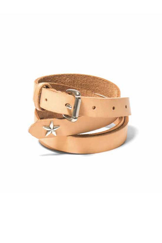 Maple - star concho long belt - natural