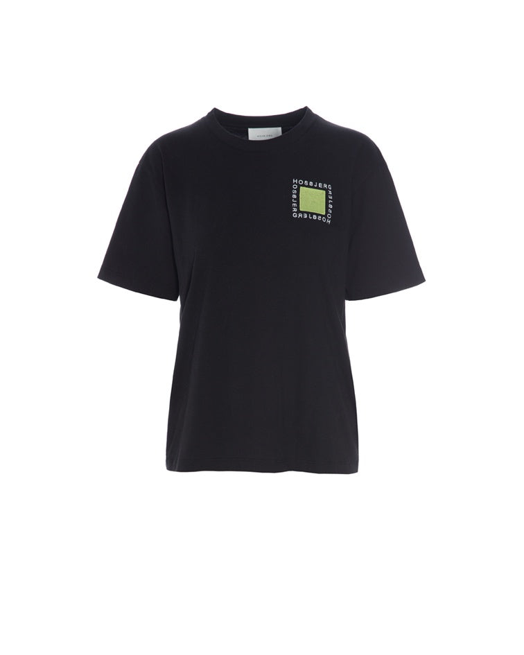 Kris Logo T-Shirt - Black/ Green