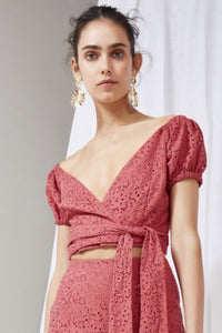 Keepsake the Label - unravelled top - mineral red