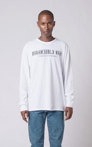 Reverse Long Sleeve Tee - white