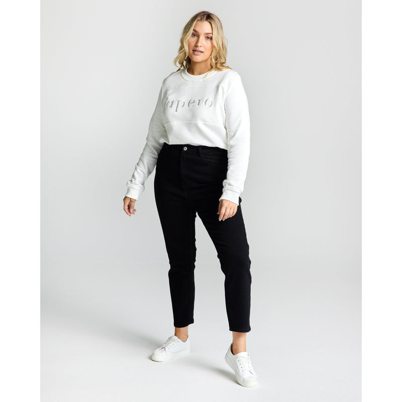 PANEL EMBROIDERED JUMPER