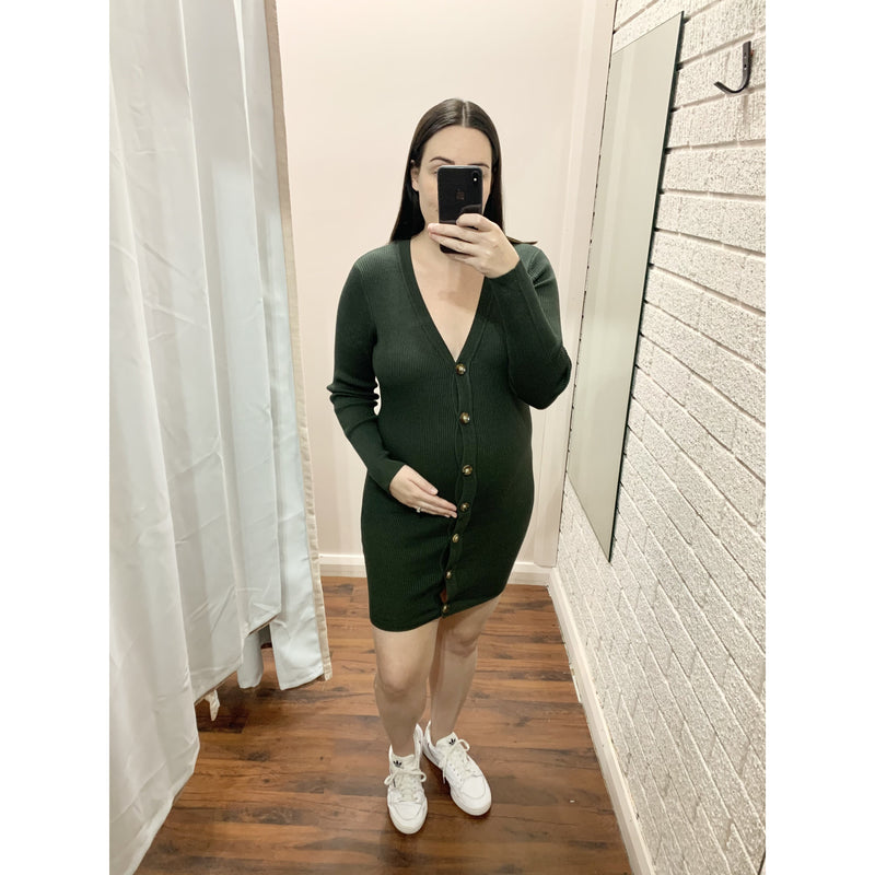 EMERALD CARDI/DRESS