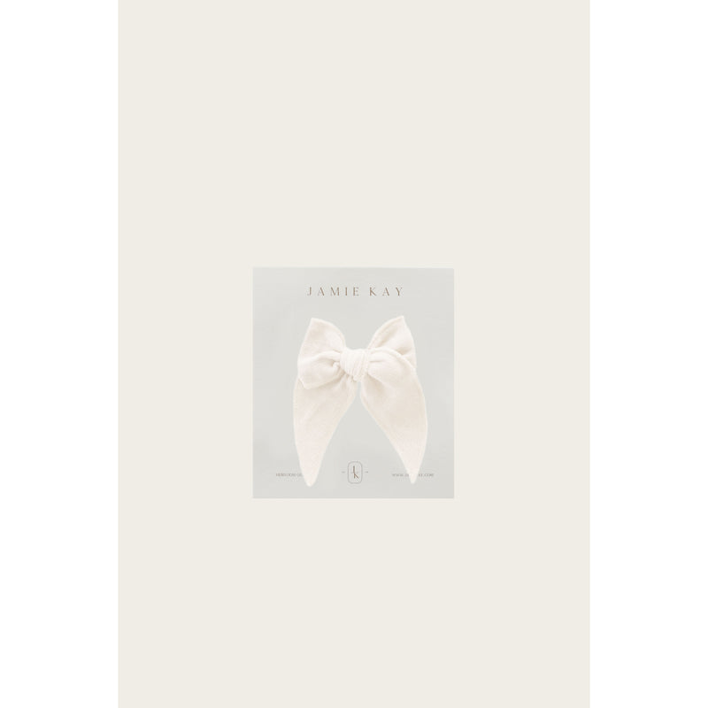 ORGANIC COTTON MUSLIN BOW