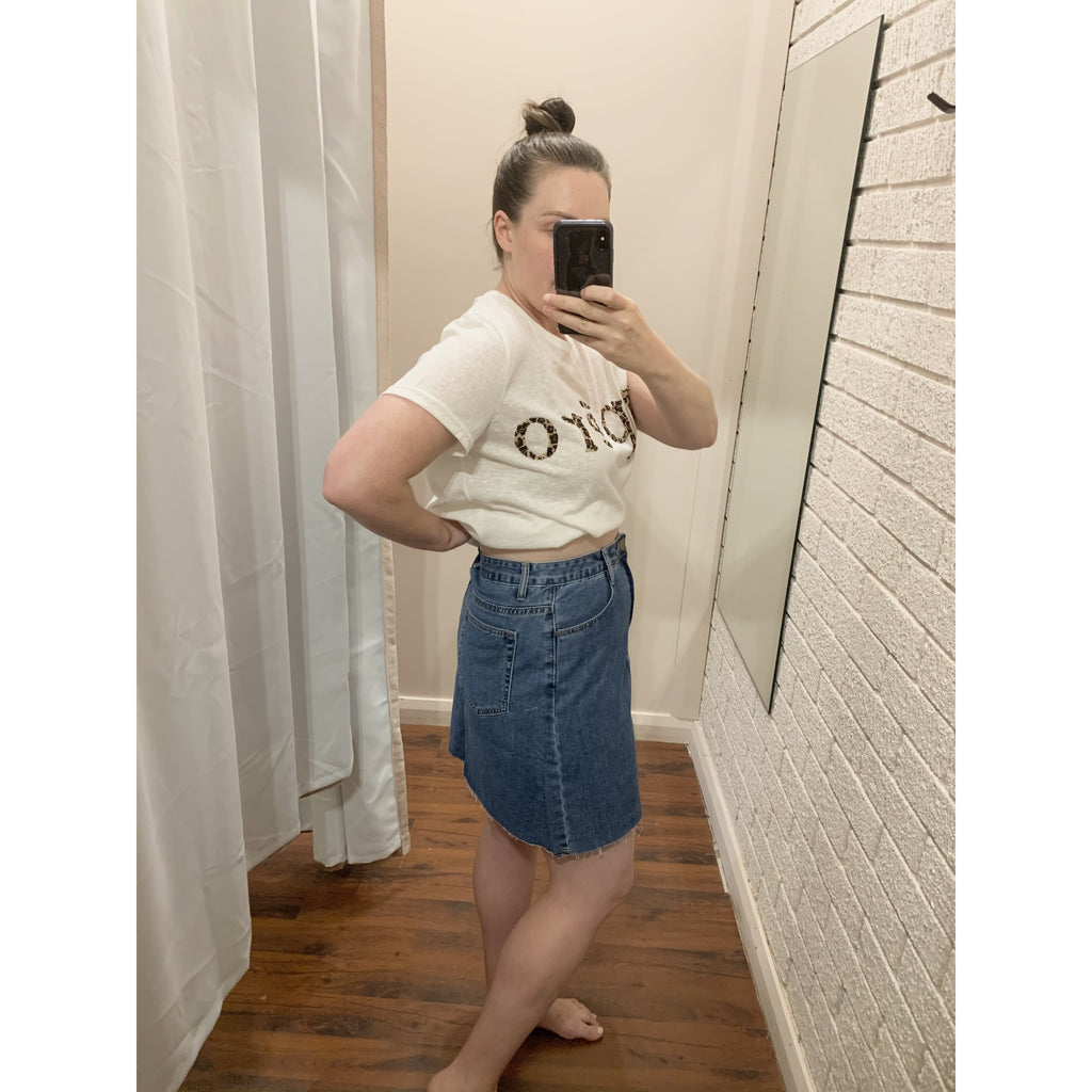 DENIM TRI CUT SKIRT