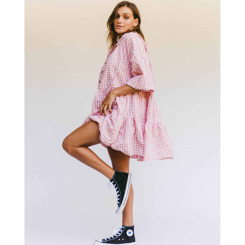 AVALON SMOCK DRESS - CANDY GINGHAM