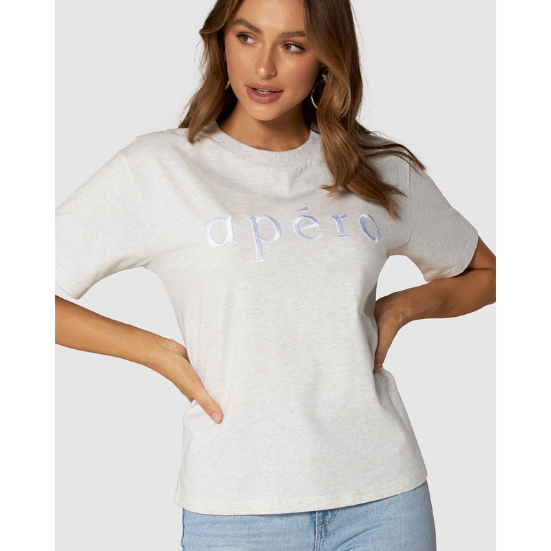 LA MODE EMBROIDERED TEE
