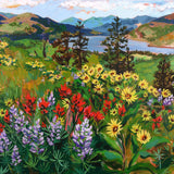 "Giclée Print of ""Mosier Wildflowers""-Prints-anisaasakawa"