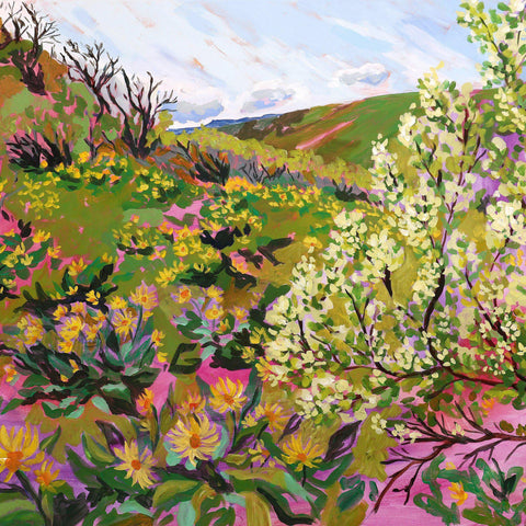 "Giclée Print of ""Chenoweth Table in the Spring""-Prints-anisaasakawa"