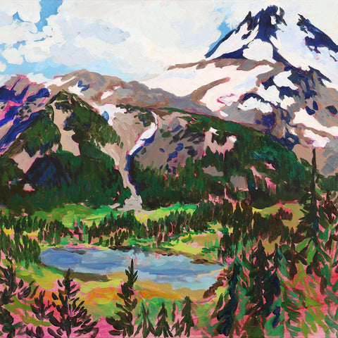"Giclée Print of ""Mount Jefferson with Russell Lake""-Prints-anisaasakawa"