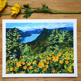 "Giclée Print of ""Dog Mountain in the Spring"""