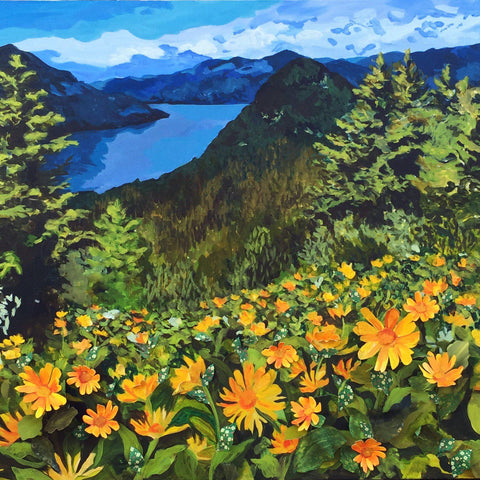 "Dog Mountain in the Spring 30""x40"""