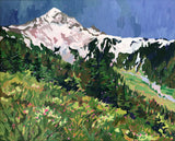 McNeil Point at Mount Hood painting