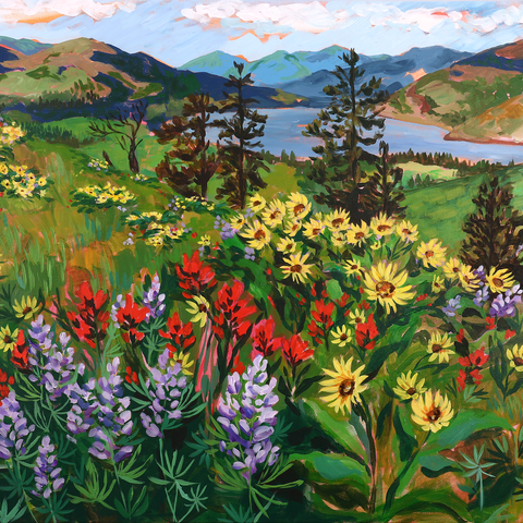 "Mosier Wildflowers 30""x40"""
