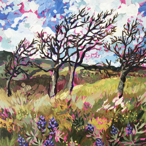 "Windy Spring at Memaloose Hills 16""x20"""
