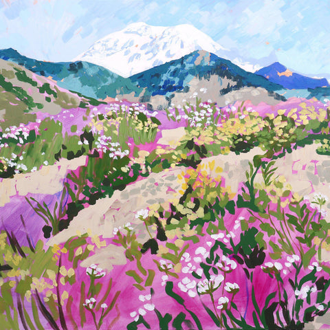 "Abstracted Mount St. Helens 30""x48"""