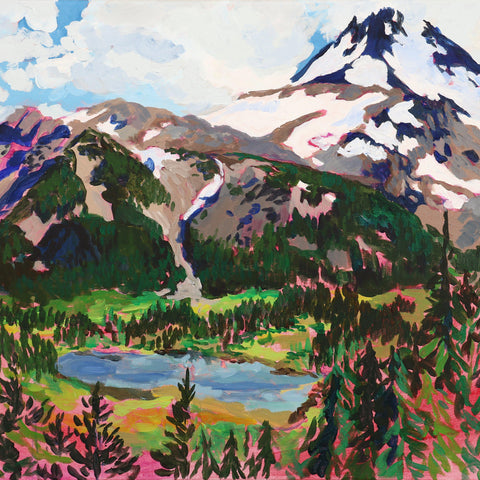 Mount Jefferson and Russell Lake 22x28""