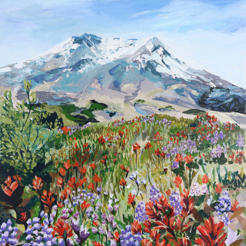 "Mount St. Helens Wildflowers 36""x48"""