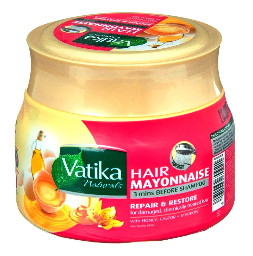 Dabur Vatika Naturals Hair Mayonnaise Treatment, 3 mins Before Shampoo, 500 ml