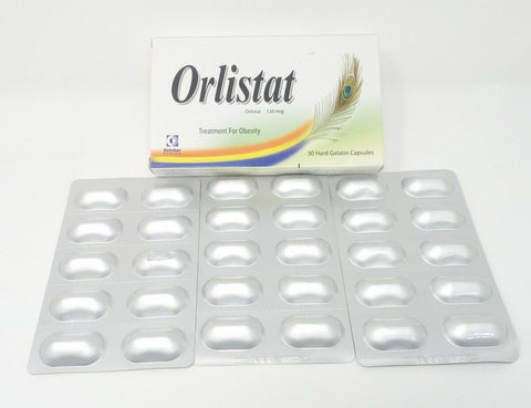 3 Box Orlistat 120Mg Treatment for Obesity and Weight Loss 90 Capsules Free Shiping