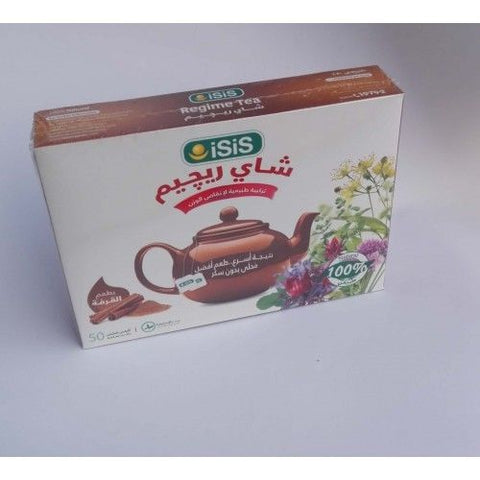 iSiS Regime Tea With Cinnaman - 50 Bags (2 Pack = 100 Bags)