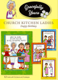 Church Kitchen Ladies Birthday 32 count Special Pack for Big Card Senders