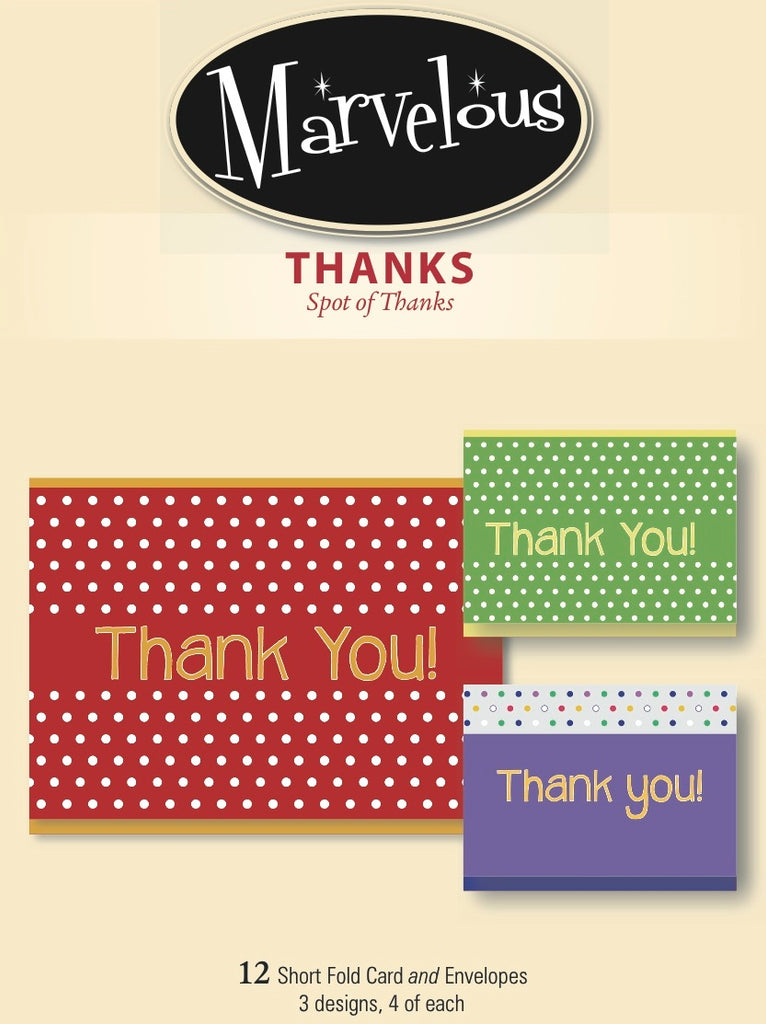 Thank You-Marvelous Brand - Spot of Thanks- 12 cards
