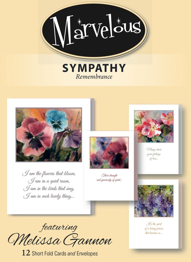 Sympathy- Marvelous Remembrance- 12 cards-GY 171
