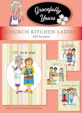 Church Kitchen Ladies All Occasion Cards (12 ct) - GY-128