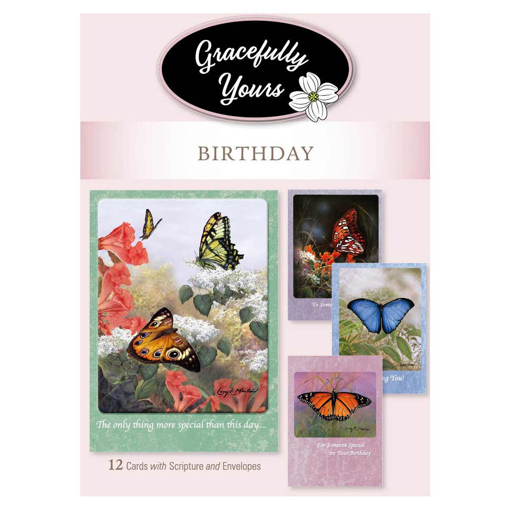 Birthday Blessed  Cards (12 ct) - GY-202