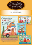 Birthday Happy Camper Birthday (12 ct) - GY-131