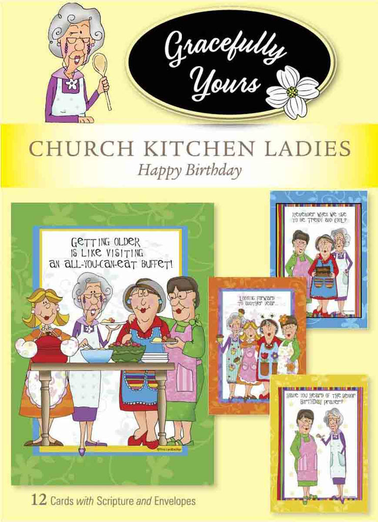 Church Kitchen Ladies Birthday #117 The original cards that celebrate birthday with fun