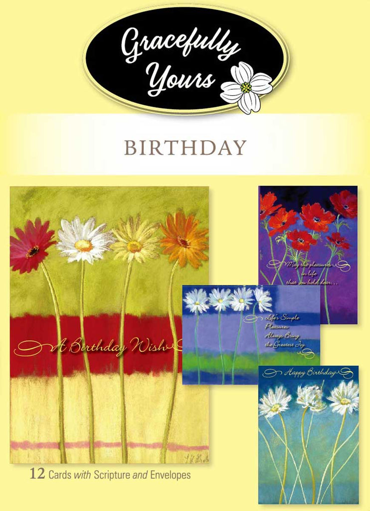 Blooming Wishes Birthday (12 ct) - GY-002