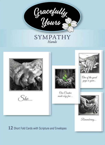 Sympathy Cards - Hands (12 ct) - GY-146