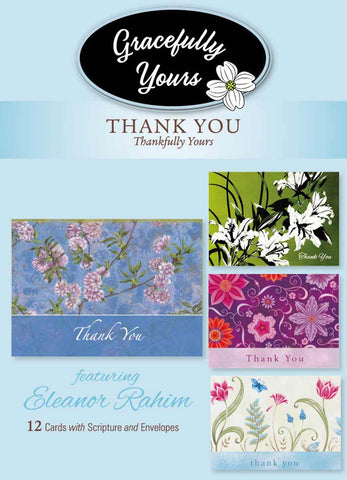 Thankfully Yours Thank You Cards (12 ct) - GY-109