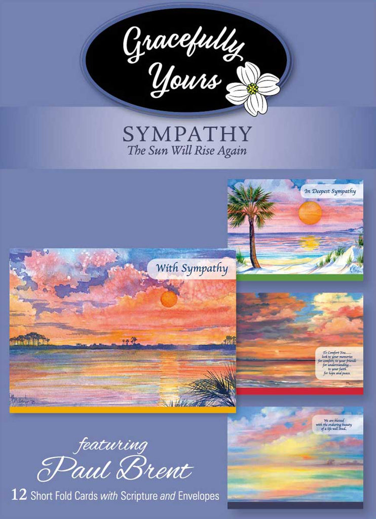 The Sun Will Rise Again Sympathy Cards (12 ct) - GY-158