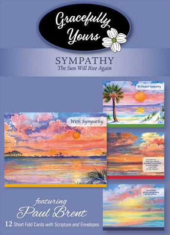 Sympathy The Sun Will Rise Again Sympathy Cards (12 ct) - GY-158