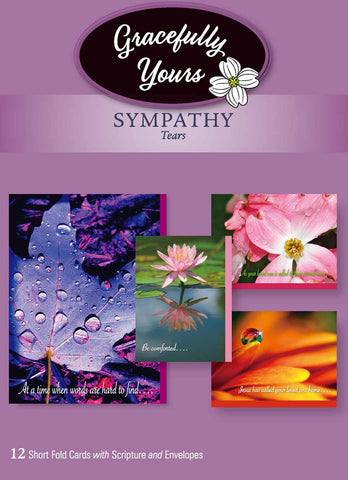 Sympathy Tears  Cards (12 ct) - GY-159