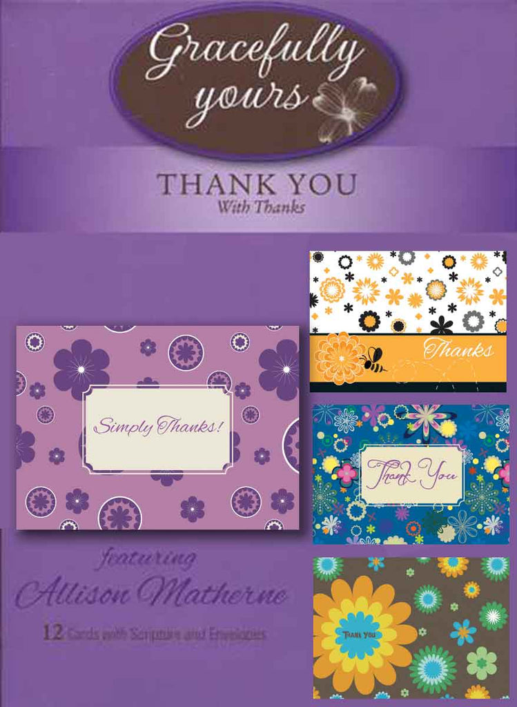 Thank You Cards - With Thanks (12 ct) - GY-108