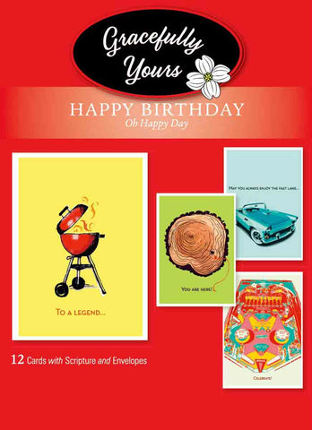 Birthday Oh Happy Day (12 ct) - GY-119