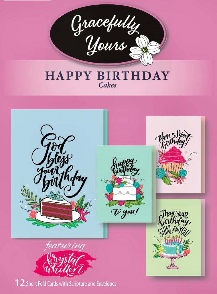 Birthday Cakes designs by Artist of the Year Krystal Whitten (12 count) GY #172