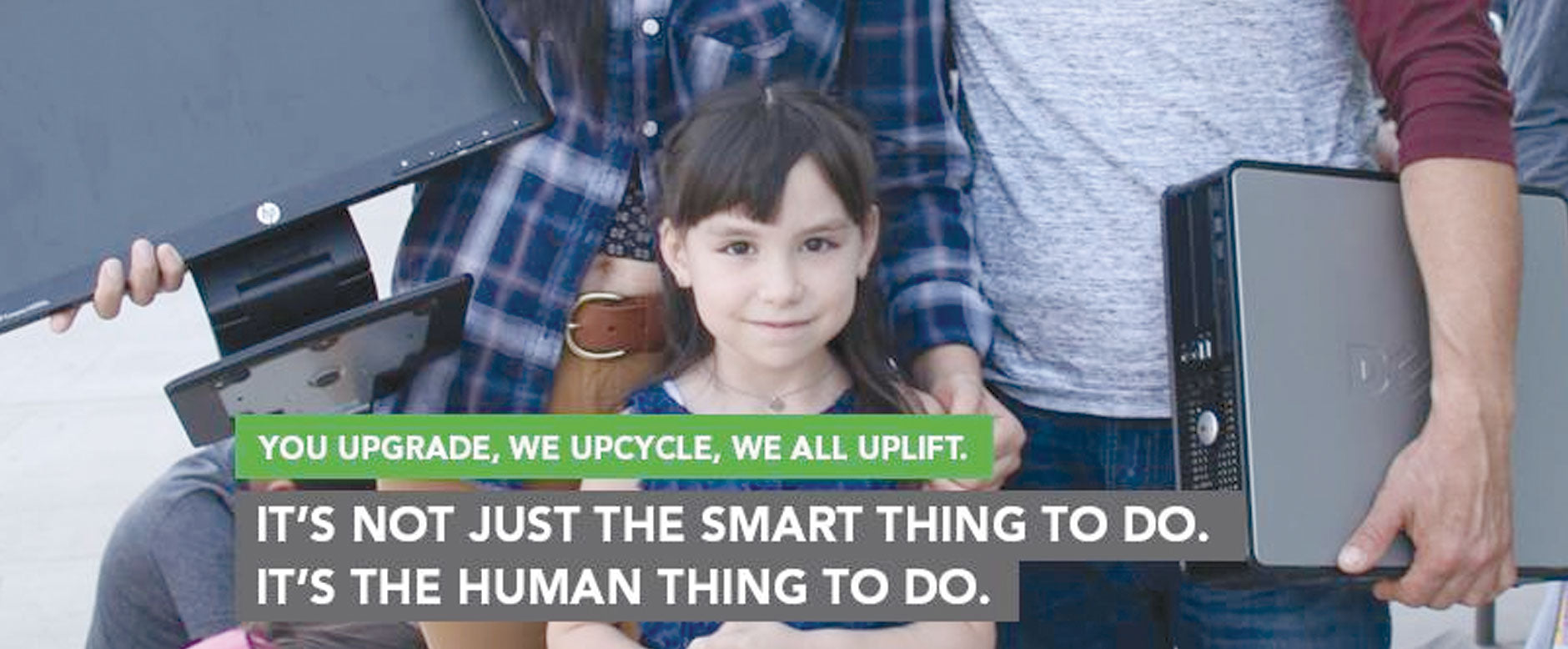 Upcyling electronics. Human IT. Donate Bitcoin