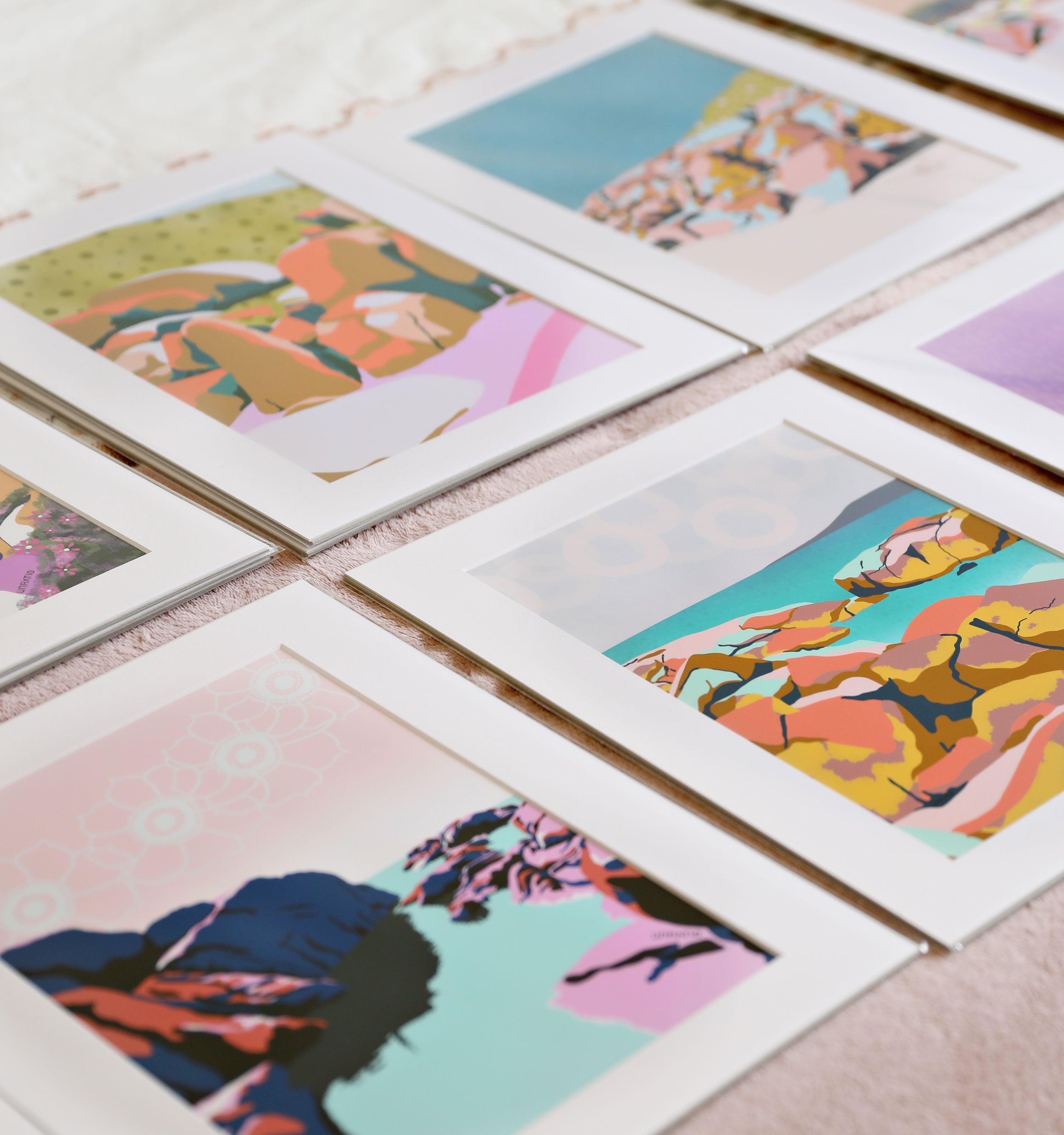 Collection of Australian illustrations available for wholesale purchase