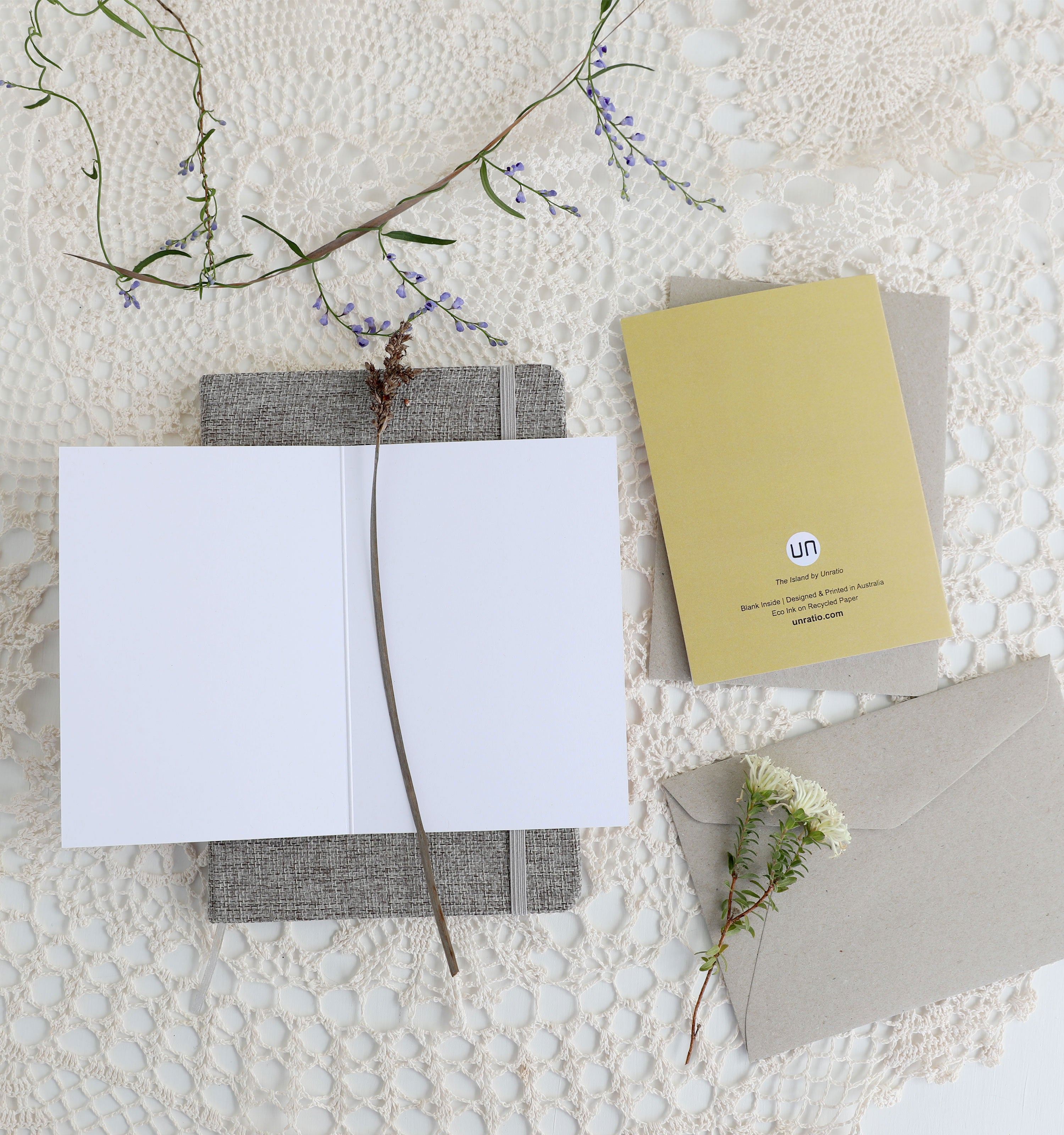 Australian made recycled paper eco ink nature Greeting Cards