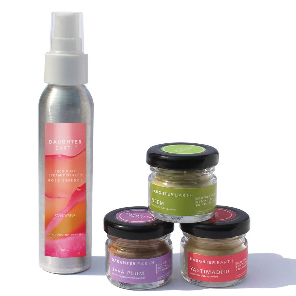 Radiance Ritual Masking Trio - Neem, Licorice, Java Plum with Steam Distilled Rose Mist