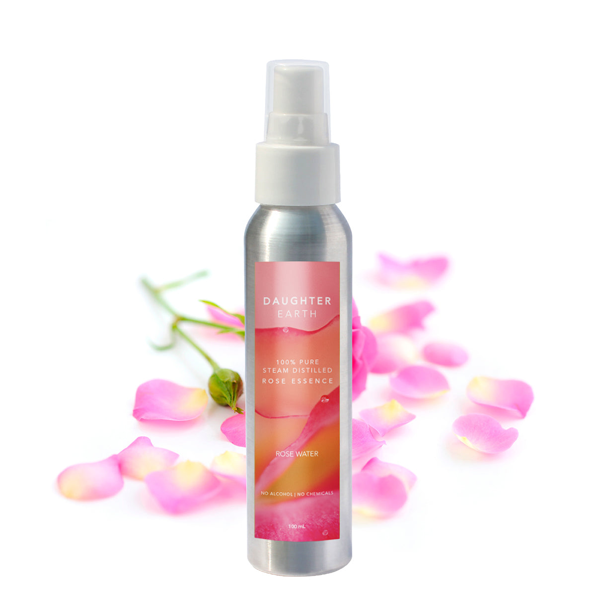 Rose Water - 100% Pure Steam Distilled Rose Essence Face Mist - 100 mL