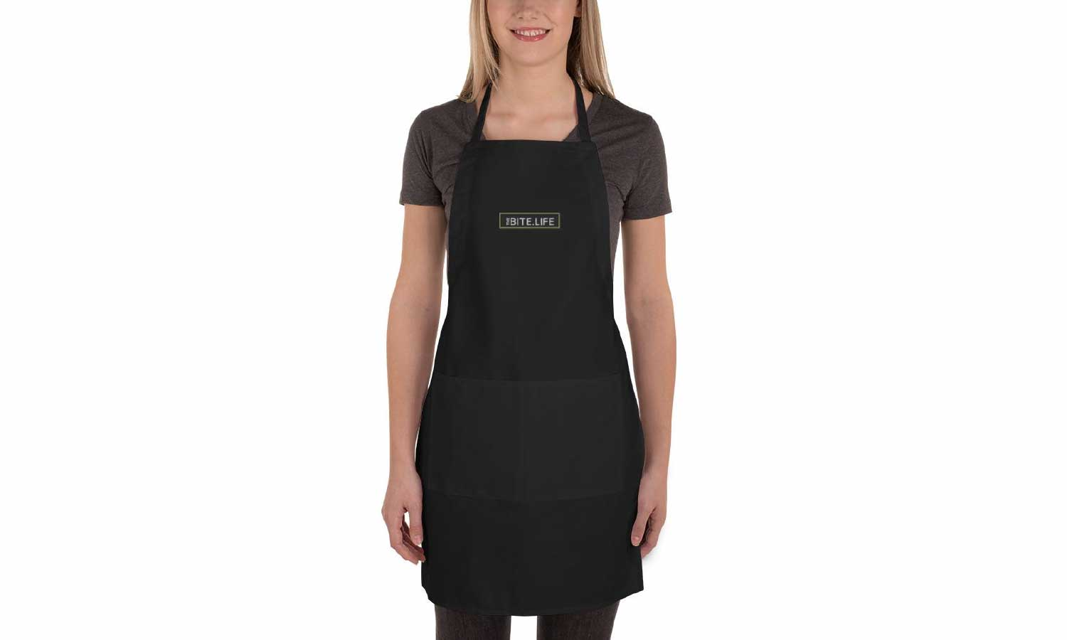 TheBite.Life Embroidered Apron - Black